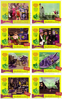 BATMAN Lobby Cards (1966) Complete Set of 8