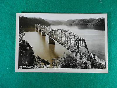 Early 1900's N.s.w  Postcard Rp The Hawkesbury River Rly. Bridge Looking North