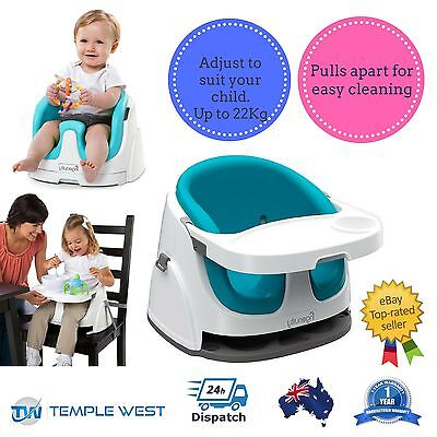 NEW Ingenuity Baby Base 2 in 1 Seat Portable Travel High Chair Blue