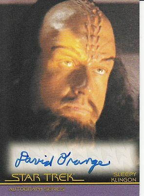 Star Trek Movies Heroes & Villains A127 David Orange autograph