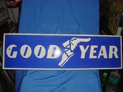 Old vintage Porcelain Enamel Good Year Tyre Sign board from England 1930