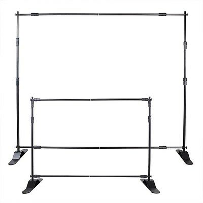 10'x8'lightweight Durable Backdrop Telescopic Banner Stand Display Trade Show