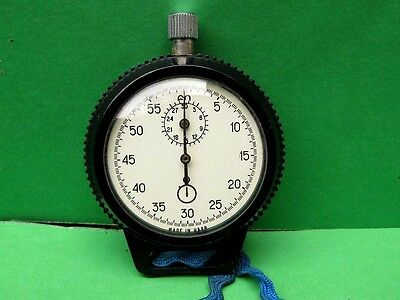 "Vintage USSR Russian ""Agat"" Stop Watch, Mechanical in Plastic Case"