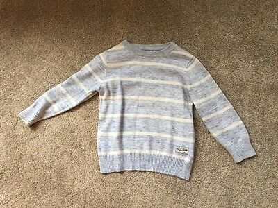 Pale blue and white striped boys jumper size 2-3 years