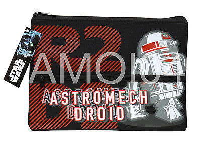 Star Wars Astromech Droid Large Double Layer Neoprene School Pencil Case *OUT OF