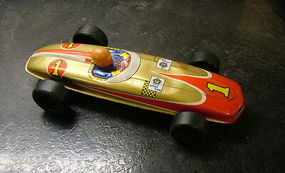 tin toy racing car by T.T Japan