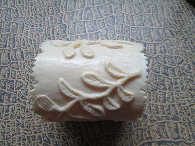 RARE Antique hand carved napkin ring from bone/France