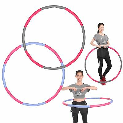 Weighted Hula Hoop - Foam Padded Body Massage Waist Slim Fitness Exercise Gym