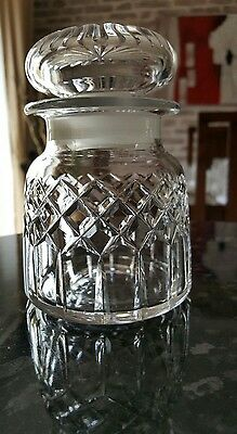 Lovely Crystal Cut Glass Storage/biscuit  Jar/pot With Lid. 264