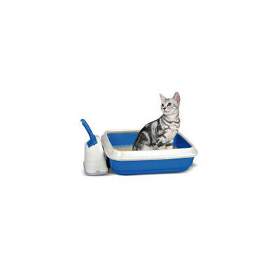 Duo Cat Litter Tray With Scoop & Holder 50x40x14.5cm - Cat Litter Trays