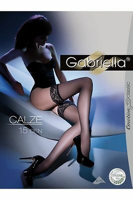 SHEER HOLD UPS 15 DEN LACE TOP PLUS SIZE Gabriella Calze
