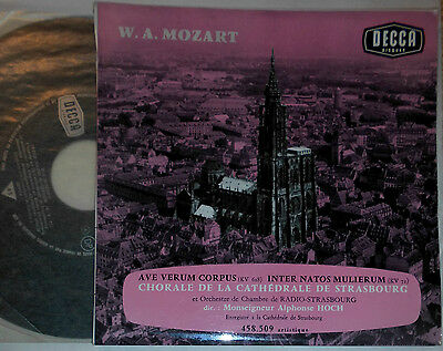 "Mozart Ave Verum Corpus Chorale Cathedrale Strasbourg Alphonse Hoch 7 "" Single"