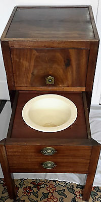 Rare Original Antique Victorian flamed Mahogony beside table/commode with potty