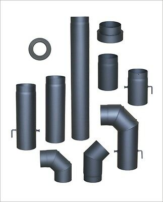 Stove pipe 150 mm for Fire , Flue , Exhaust sheet , , bends