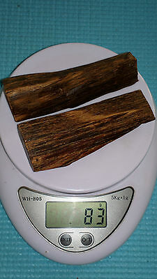 83 Grams Pure Wild Harvested Sinking Agarwood From Borneo High Quality 2 Pieces