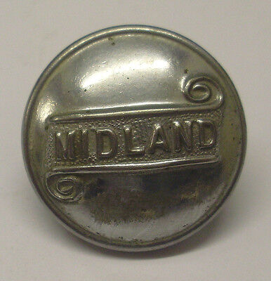 "Midland Buses 1"" Dia Uniform Single Button Used Condition As Shown In The Photo"