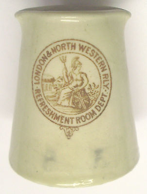 """LONDON & NORTH WESTERN RAILWAY DAINTY CREAM TOT by MINTONS – ONLY 2"""" TALL - VGC"""