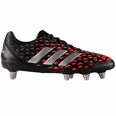 adidas Kakari Elite SG Soft Ground Mens Rugby Boot Shoe Black/ Red