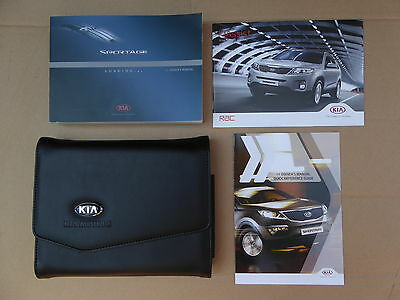 Genuine Kia Sportage 2010-2015 Handbook Owners Manual  & Wallet Print 2015
