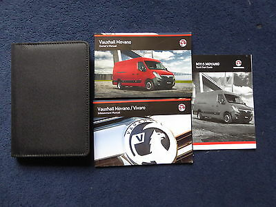 Genuine Vauxhall Movano 2010-2016 Handbook Owners Manual  Print 05.2014