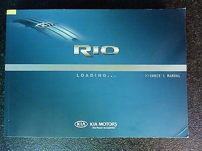 Kia Rio Handbook Owners Manual 2011-2013 Print 2011 Genuine