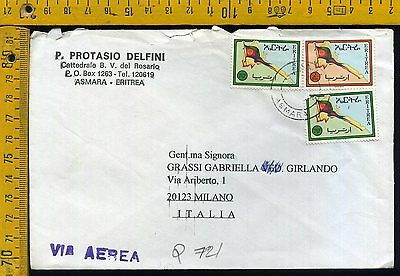 Eritrea Cover busta air letter airmail to Italy Q 721