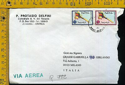 Eritrea Cover busta air letter airmail to Italy Q 722