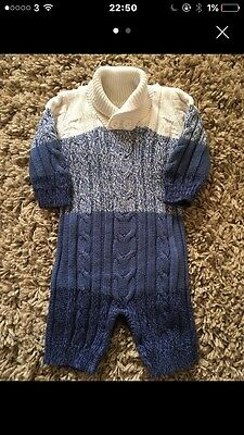 Baby Boys Knitted All-in-one, 0-3 Months
