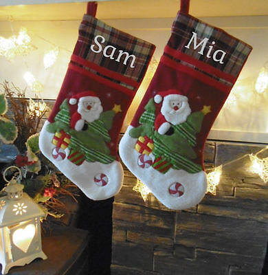Personalised Christmas Stockings - Santa Stockings Embroidered