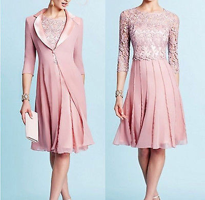 Plus Size 2-26 Blush Women Mother Of The Bride Outfits Evening Dress Free Jacket