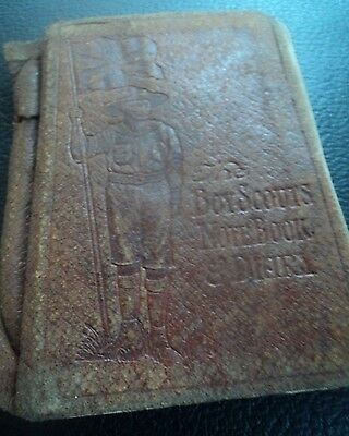 EARLY Rare Boy Scout Book - Letts's Notebook Diary 1915 James Taylor Bolton WW1