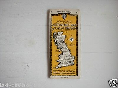 Bartholomew's Automobile Map Oban and Fort William Map 16 - Yellow Cover - Cloth