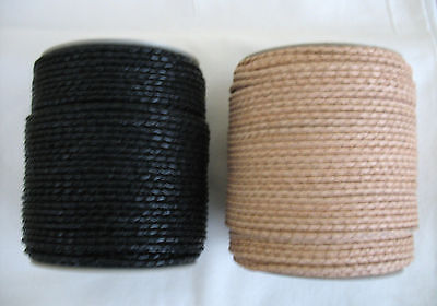 1metre of BRAIDED ROUND LEATHER CORD 3mm