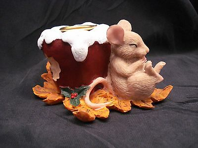 Charming Tails  MOUSE WITH APPLE CANDLEHOLDER DEAN GRIFF