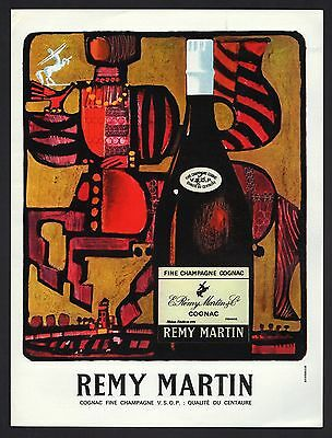 Publicite  Alcool Cognac  Remy Martin   French Alcohol  Ad  1964  * 7F