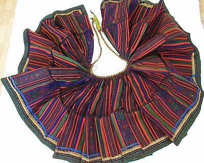 Antique Bulgarian Woven Skirt Embroidered Folk costume Tinsel Manually RARE