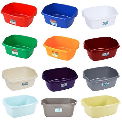 Wham Large Rectangular Rectangle Plastic Washing Up Bowl Basin  Heavy Duty