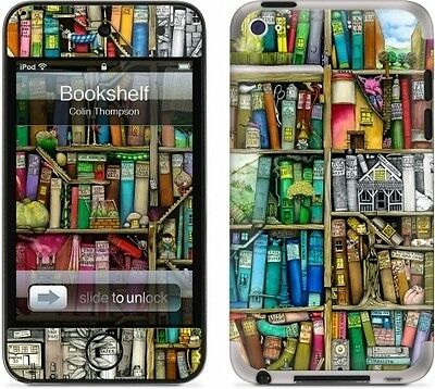 GelaSkins Protective Skin for Apple iPod Touch 4th Generation - Bookshelf