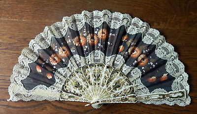 Vintage 1950s Spanish Hand Fan Collectors Item