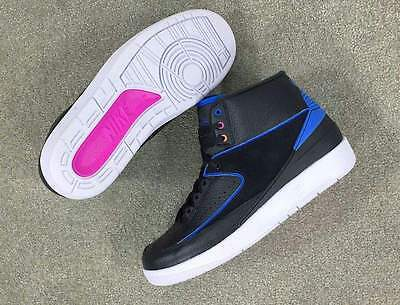 Youth Grade School Nike Air Jordan 2 II Sneakers New, Black / Blue 834276-015