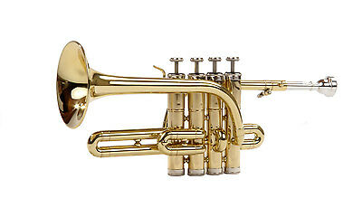 Classic Cantabile Brass Pt-196 Piccolo Trumpet Including Mouthpiece And Case New