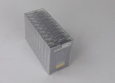10 x Grundig C90 Ferric Blank Audio Cassette 90 Minute Tape New Sealed Stock