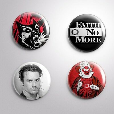 4 FAITH NO MORE - Pinbacks Badge Button Pin 25mm 1''