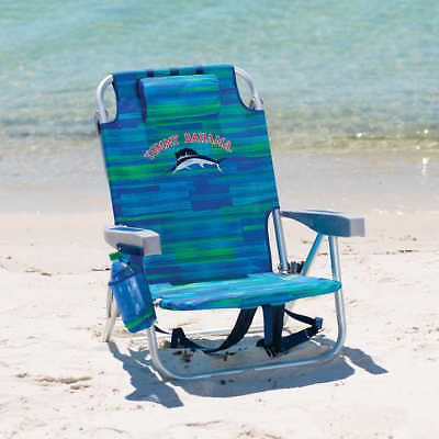 Blue Tommy Bahama Backpack Cooler Beach Chair Adjusts To 5 Positions 2018