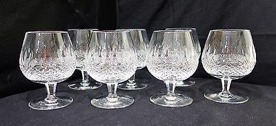 """Waterford Crystal Colleen Large Brandy Snifters Set of 7 5 1/8"""" Clear Cut A211"""