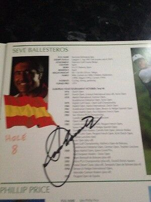 Signed Seve Ballesteros And Ian Woosnsam Wales Open 2000 Programme