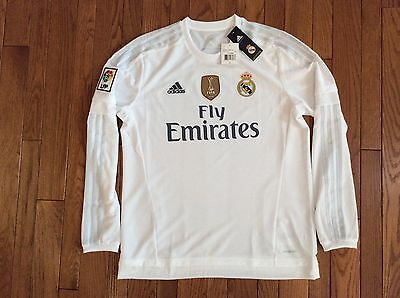 adidas Cristiano Ronaldo Real Madrid Long Sleeve CWC Home Jersey 15/16 BNWT