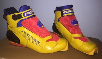 "FISCHER RCS Cross Country Ski Boots SNS Profil  MENS / WOMENS MES. 11"" Yellow"