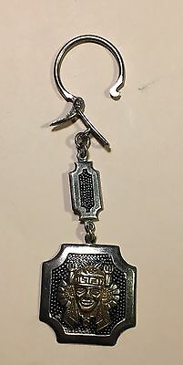 Peru - Antique Sterling Silver and 10K Gold Key Chain