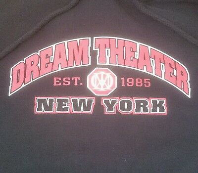 Vintage Official Dream Theater New York 1985 Sweatshirt Hoodie Size Large L